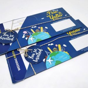 undangan softcover boarding pass