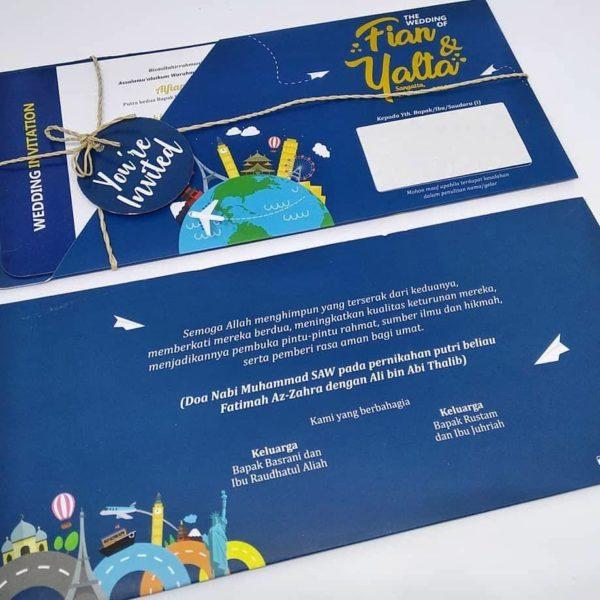 undangan softcover boarding pass