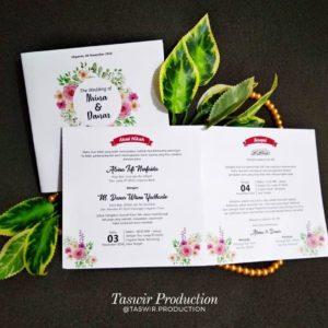 undangan flower