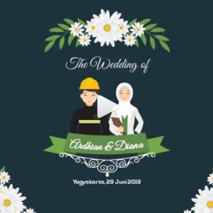 undangan digital dengan kartun islami