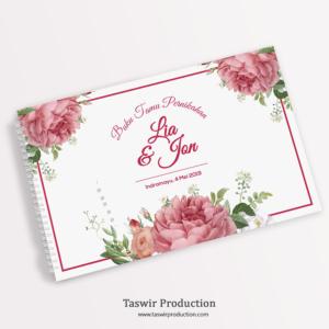 Buku Tamu Pernikahan Custom
